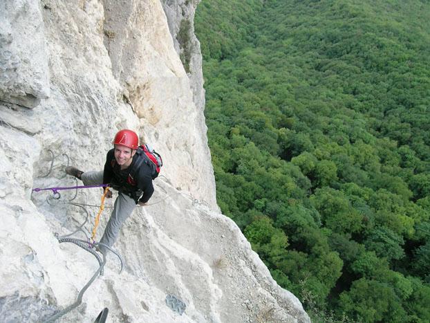 grimpeur cascade Oulle